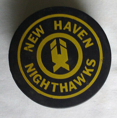 Early 1980s New Haven Nighthawks Game Puck American Hockey League AHL Rare