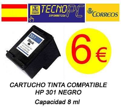 Cartucho Tinta Compatible HP 301 Negro NO OEM