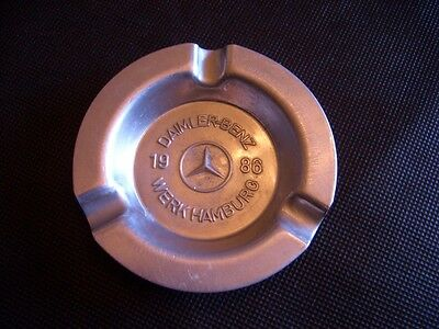 alter Aschenbecher – DAIMLER-BENZ WERK HAMBURG 1986 – Mercedes ashtray