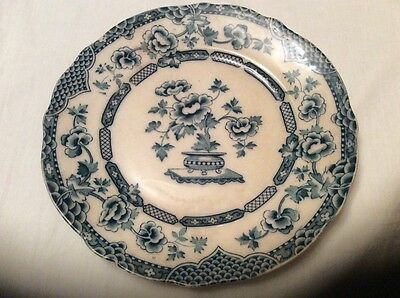 Antique plate blue and white Rd No:536208