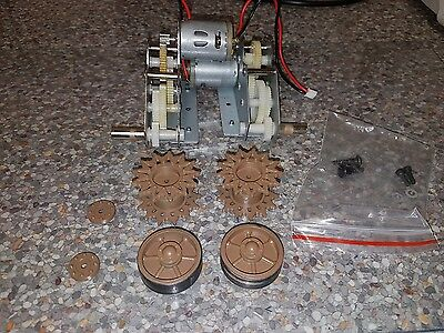 1/16 sherman tank gears and motors sprockets and back wheels