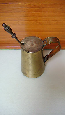 Antique/Vintage Brass Fire Starter Lighter Set Smudge Pot Pumice Stone Wand
