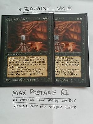 2x GATE TO PHYREXIA Rare Enchantment ANTIQUITIES - MTG - Black