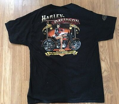 Vtg Harley Davidson Graphic Tee Shirt from Milwaukee Wisconsin Men's Size Large
