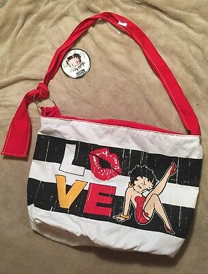 Betty Boop Tote Bag White Red Black Love