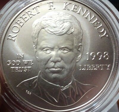 1998 Kennedy Commemorative Silver Dollar  Certificate of Authenticity Proof Like
