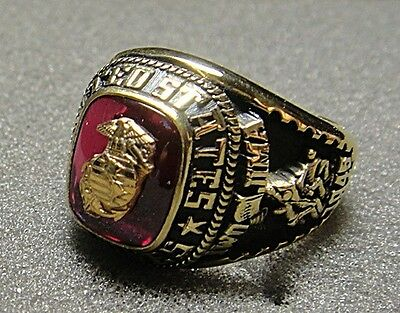 Jostens U.S. Marine Corps Men's Ring with Stone, Size 8.5