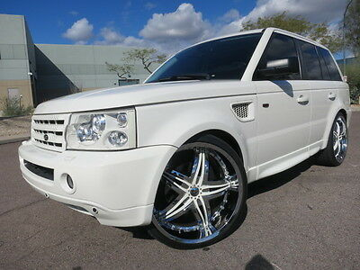 2008 Land Rover Range Rover Sport Supercharged upercharged 24inch Whls Custom All White Loaded Up Hot Rover 2009 2007 2010 hse