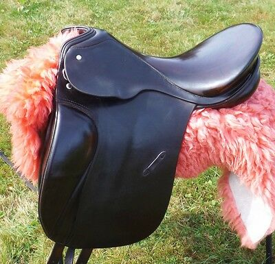 "16.5/17"" Rare Passier Grand Gilbert  Nicole Uphoff Classical Dressage Saddle"