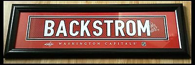 Nicklas Backstrom Washington Capitals NHL Framed Replica Signed Jersey Print