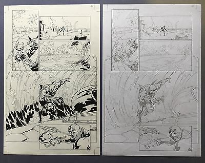 Aquaman Vol.7, #23.1: Black Manta Pg 16 Nov.'13 Original Art by St. Aubin New 52