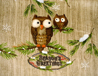 Owl Christmas Kitchen Dish Towels Crochet Tops thick Listing # t150