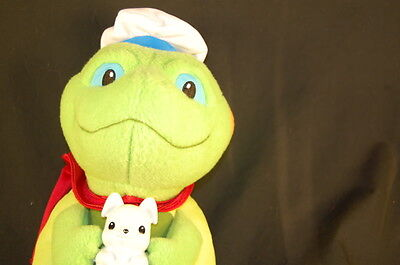 """Wonder Pets TUCK Rescue FROG Bunny Plush 11""""  Fisher Price STUFFED ANIMAL LOVEY"""