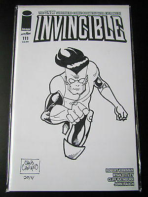 Invincible #111 Blank Variant Remarked By Chris Caniano Df Coa Image Kirkman Twd