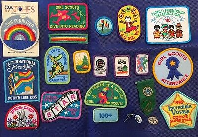 Girl Scout Patches and Pins, Lot, 95/96