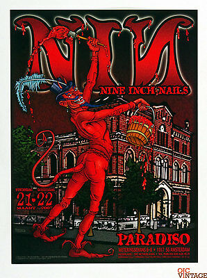 Nine Inch Nails Poster 2007 Mar 21 Paradiso Amsterdam Netherlands Chris Shaw
