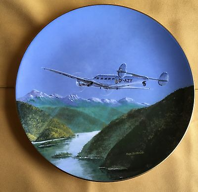 "Air Canada 50th Ann. Collector Plate ""Lockheed 10A"" by Coalport (409)"
