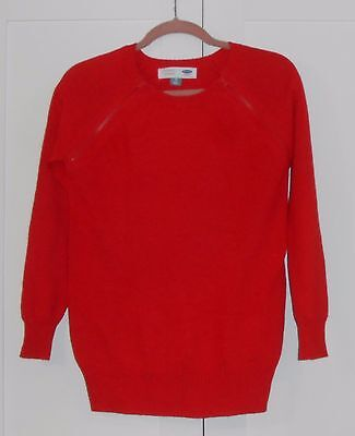Women's Old Navy Lipstick Red Maternity L/s Double Zipper Tunic Sweater - Xsmall