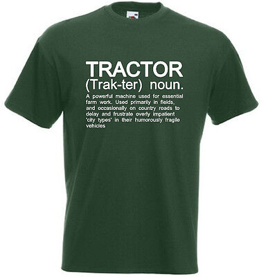 TRACTOR Funny Men's T-Shirt Farming Farm Farmer Driver Definition Birthday Gift