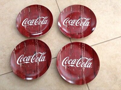 """NWT Coca Cola Plates Collector Plate by Gibson G-15339 7.5"""" Diameter Set of 4"""