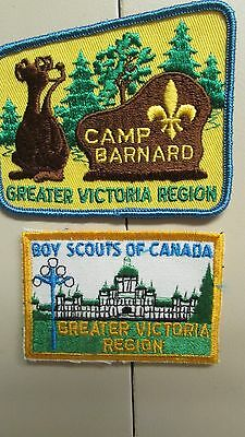 Greater Victoria Region Patches  Boy Scouts of Canada & Camp Barnard