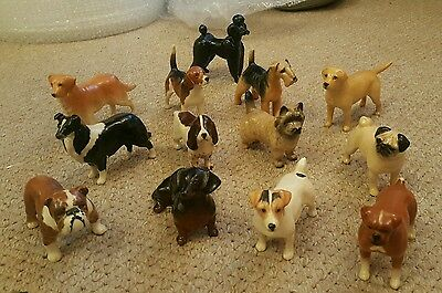 Set of 13 Beswick Dogs