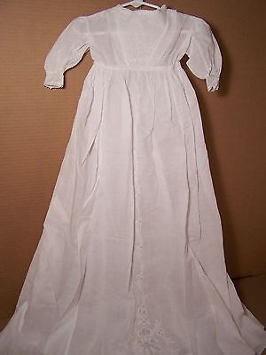 Antique Ayrshire embroidery Christening gown