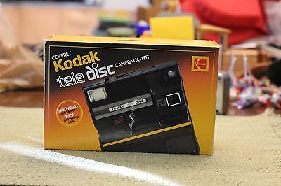 Vintage Kodak Tele Disc Film Camera Outfit Camera with Sealed Film in Box