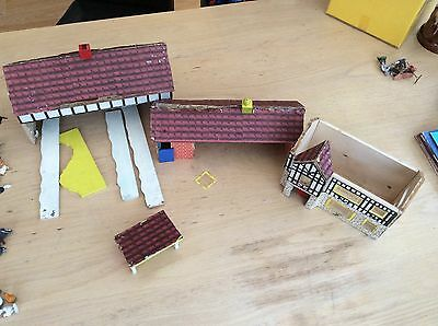 vintage farm toy Group Of Buildings, Barns, Farmhouse And Pigsty