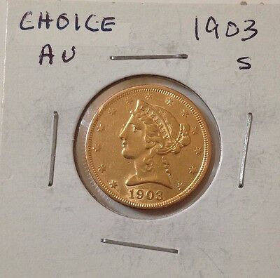 1903-S Half Eagle Choice AU