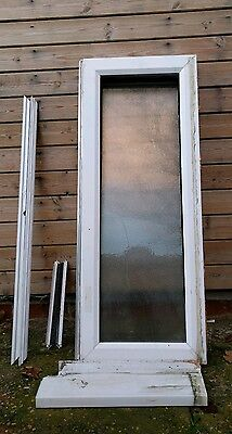 Double glazed frosted upvc window with sill