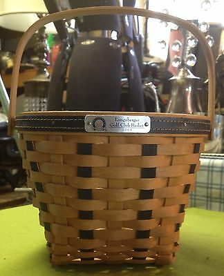 Longaberger Golf Club Basket 2000 w/ Collapsing Handle Great Condition