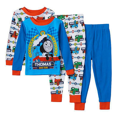 Thomas & Friends Toddler Boy's  4 Pc Snug Fit Pajama Set  NWT   2T   MSRP $38.00
