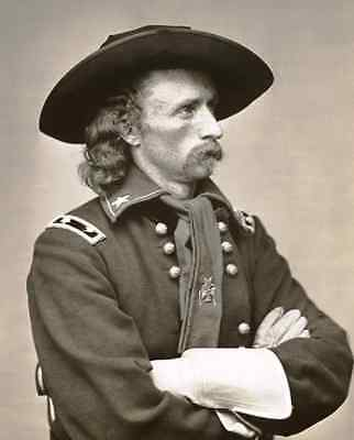 General George Custer PHOTO Seated in Uniform,Civil War,Battle of Little Bighorn