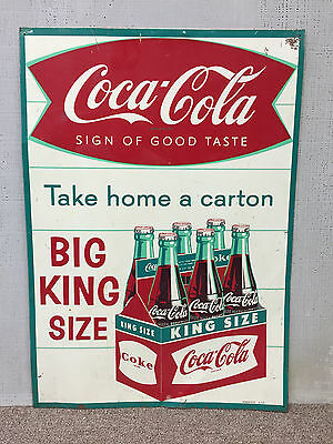 Coca Cola Fishtail Arciform 6-Pack Big King Size Take Home A Carton Sign