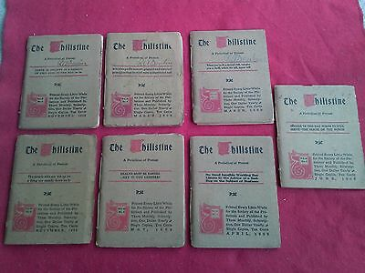Lot 7 Issues of THE PHILISTINE Elbert Hubbard Periodical of Protest 1908 - 1909
