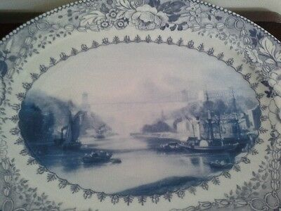 Bristol Blue and White Serving Dish
