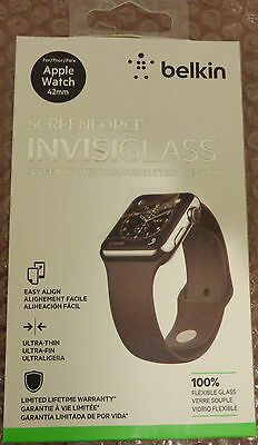 Belkin ScreenForce InvisiGlass Screen Protection for Apple Watch (42mm) - NEW