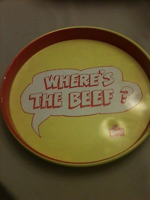 """1984 Wendy's """"Where's the Beef?"""" 14"""" Round Tin Serving Tray"""