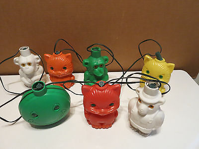 Vintage Camping Lights Blow Mold Patio Lanterns RV MONKEY BEAR CAT HAPPY FACE