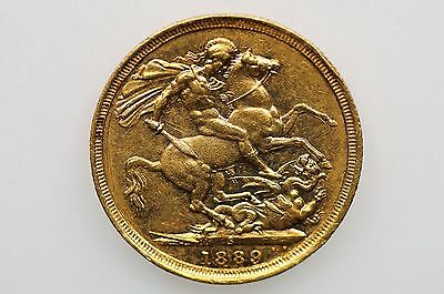 1889 Sydney Mint Gold Sovereign Victoria Jubilee Head in VF Condition