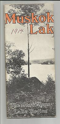 Muskoka Lakes Navigation and Hotel Co. Summer Time Table 1914, map, photos, ads