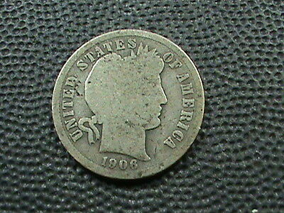 UNITED STATES      10  Cents   1906    SILVER