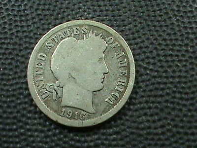 UNITED STATES      10  Cents   1916    SILVER