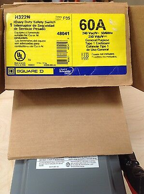 H322N Square D Heavy Duty Safety Switch 60 Amp 240V (New In Box)