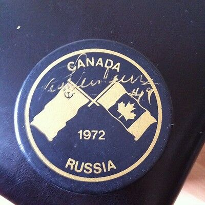Paul Henderson Team Canada 1972 Signed Puck