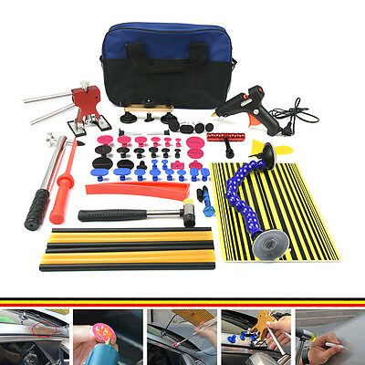PDR Tools Glue Gun Set Paintless Dent Hail Removal Tools Tabs Red Dent Lifter