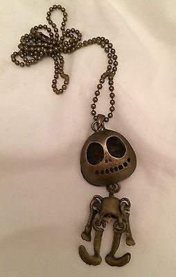 Brass Jack Skellington Skeleton Necklace