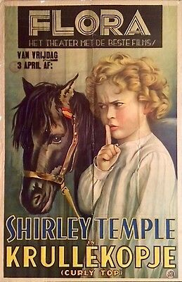 Shirley Temple Curly Top Very Rare Original Foreign Movie Poster