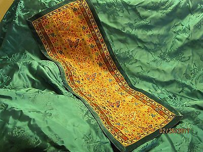 Chinese Silk Embroidered  Runner...